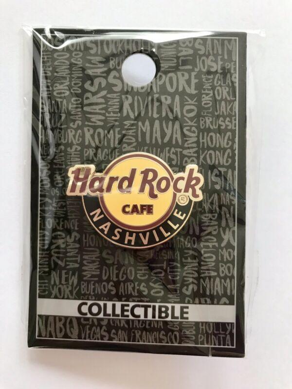 Hard Rock Cafe HRC NASHVILLE Classic / New Logo Pin w/ pin back card NIP