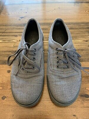 VANS Size 8 Womens 6.5 Mens All Gray Canvas Classic Skate Shoes Low Pro Lace Up