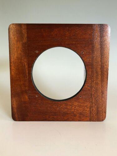 "Deardorff Solid Mahogany 6"" x 6"" Lens Board for 8x10 View Camera 86mm Hole"