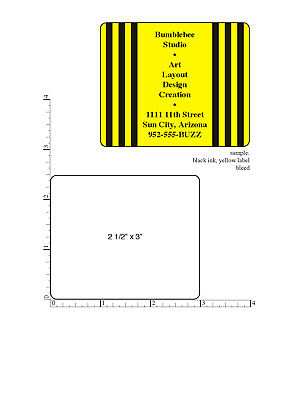 10000 Printed Labels Custom 2.5 X 3 Rectangle Business Stickers 1-color Roll