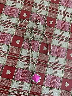 Kendra Scott Pink And Gold Necklace Adjustable Length Wore Once