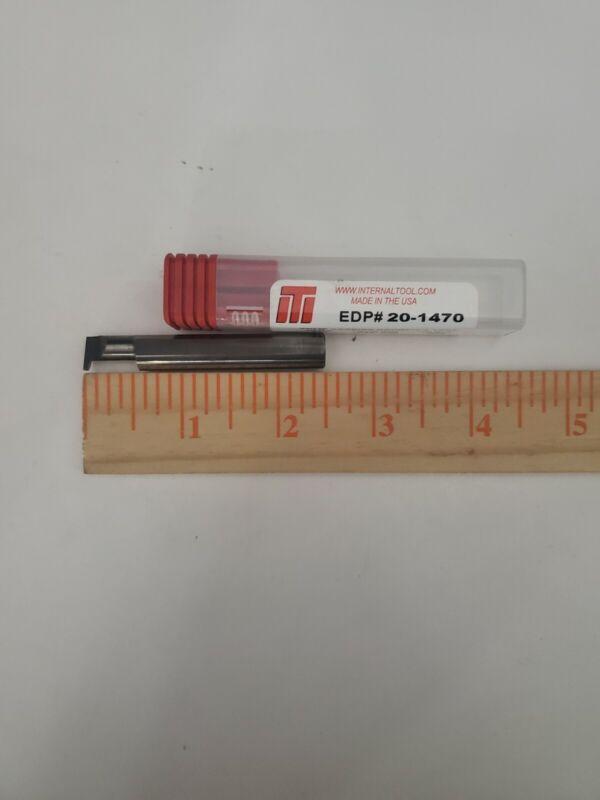 EDP#20-1470 Solid Carbide Grooving Tool. Internal Tool, Dim .375, Width...