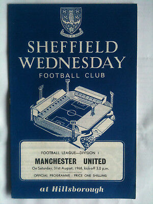 1968/69 Sheffield Wednesday v Manchester United 1st Division