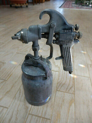 Binks Model 18 Pressure Auto Body Paint Spray Gun W 1 Quart Cup