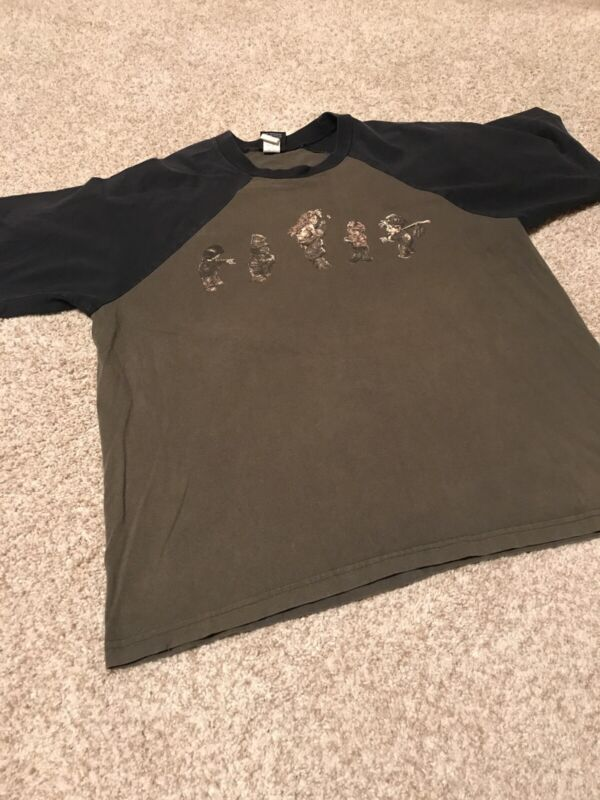 Korn Follow The Leader Shirt Green Black Vintage XL Giant Tag