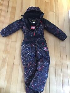 Snow Dragons One piece snow suit  size 7/8