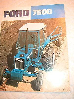 Ford 7600 Cab Model Farm Tractor Color Brochure