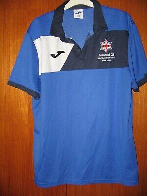 Maccabi GB Shirt Joma size XL 44/46 2017 Maccabiah Games Israel MANAGER shirt image