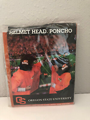 Helmet Head Poncho Oregon State University Beavers New Shed Rain One Size Shirt  - Oregon State University Helmet