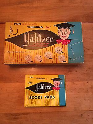 Vintage Yahtzee 1956 Original Family Dice Game E.S Lowe #950 Complete