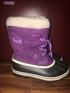 Purple Sorel Winter Waterproof  Boots
