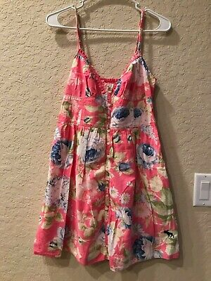 Abercrombie & Fitch Pink Floral Babydoll Tunic Short Dress Large