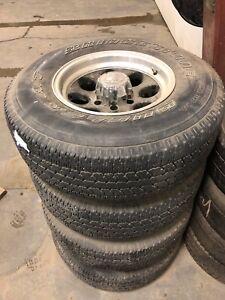 265/75R16 Bridgestone Dueler AT tires on 6x5.5 rims