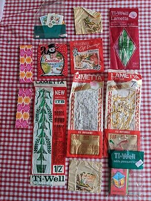 Vintage Christmas Decorations And Tags