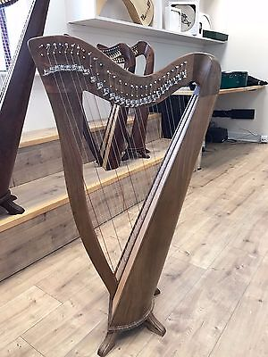 28 Saiten Walnuss Harfe, 28 Strings Celtic Irish Harp, Irish lever Harp