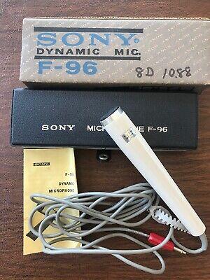 Vintage Sony Model F-96 Dynamic Microphone w Case / Manual