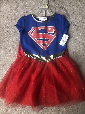 NWT Pajama Superwoman Costume Removable Cape Jewels Medium 7/8 - Superwoman Cape