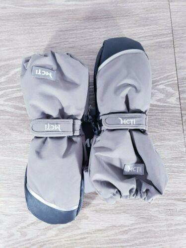 Unisex Kids MCTI Grey/ Black Outdoor Mittens Size 4
