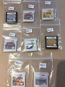Nintendo Ds and Nintendo 3ds games