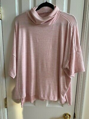 NWT GAP WOMENS HEATHER PINK TURTLENECK SWEATER SIZE EXTRA EXTRA LARGE XXL 2XL Extra Large Heather
