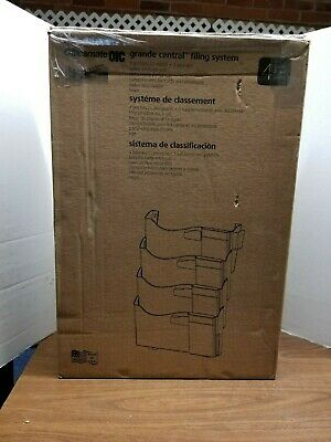 Officemate Grande Wall Filing System 4 Pockets 16-58 X 4-34 X 23-14 Black