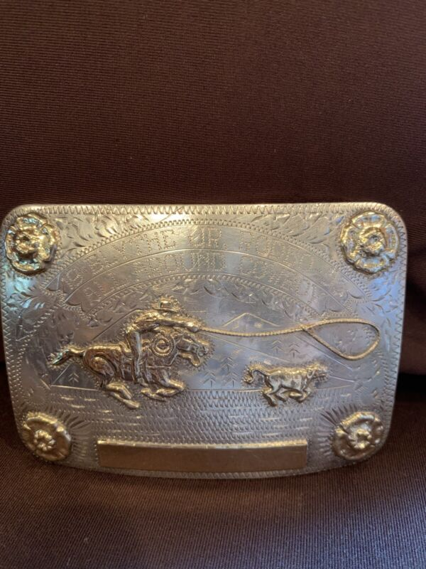 Rodeo Trophy 1955  All Around jr Cowboy 10k  Buckle