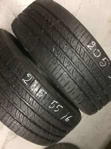 x2 Bridgestone All Season Tires 205/55/16