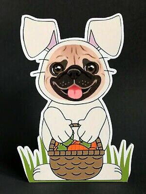 Fawn Pug Easter Bunny 7in Decor ](Pug Decor)