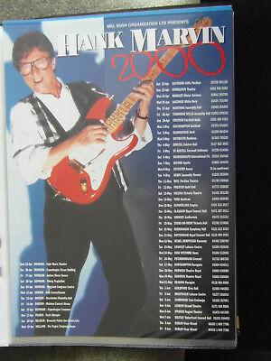 Hank Marvin 2000 Tour Flyer