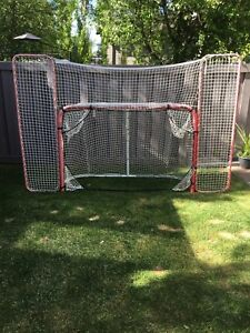 Hockey Net with backstop and targets
