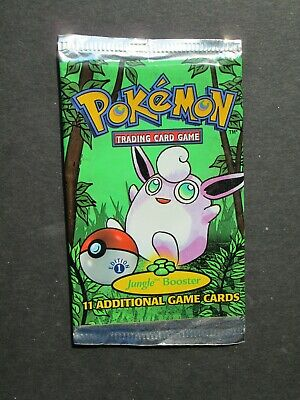 Pokemon 1ST EDITION JUNGLE SET BOOSTER PACK WRAPPER ONLY NO CARDS - WIGGLYTUFF
