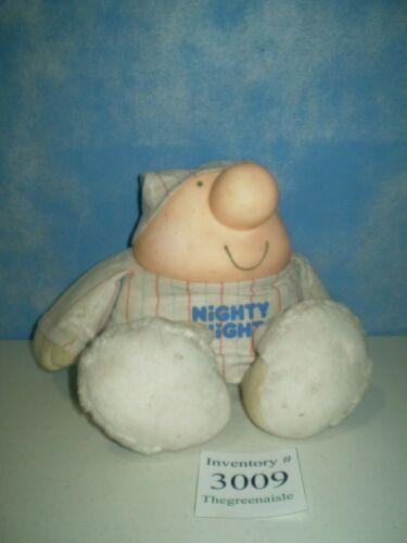 1986 American Greetings Ziggy Character Nighty Night Plush Bedtime Doll in PJ