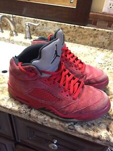 Retro 5s in Red Size 11 (CHEAP)