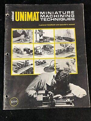 1971 Edelstaal Unimat Miniature Machining Techniques Handbook Operators Manual