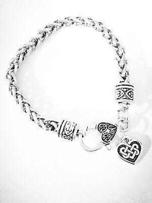 Celtic Heart Knot Charm Bracelet Irish Friendship Loyalty Gift For Her Jewelry ()