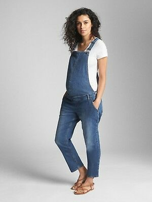 NWT Gap Maternity Denim Overalls, Medium Indigo SIZE M             #337597 E1106