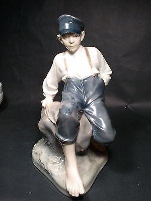 """Royal Copenhagen """"Shepherd Boy On Rock"""" # 1659 Figurine (12"""" tall) heavy"""