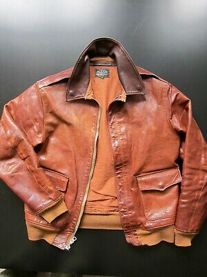 Stunning Eastman Leather Clothing Werber A-2 Horsehide Flight Jacket, size 38""