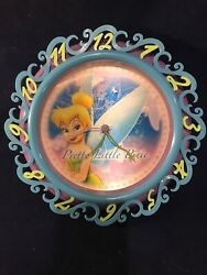 ! Disney Fairies Tinkerbell Pretty Little Pixie Holographic Battery Wall Clock