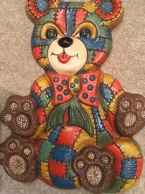 Patchwork Bear (Home Interiors HOMCO Patchwork Bear Plaque Children's Wall Decor Vintage)