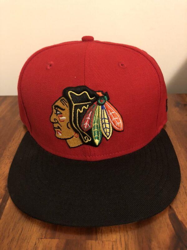 New Era NHL Chicago Blackhawks 59fifty Fitted Hat sz 7 1/4