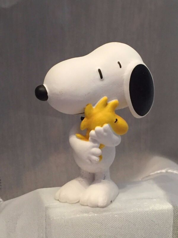 SNOOPY & WOODSTOCK 2 inch Plastic Figurine SCHLEICH, Germany