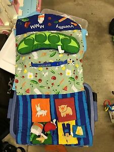 Shopping cart cover with activity Center