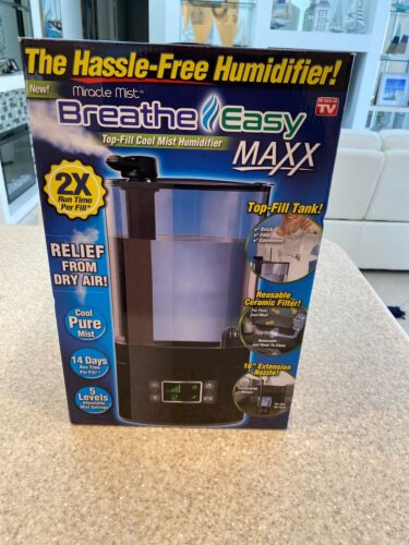 As Seen On TV Miracle Mist Breathe Easy Top Fill Cool Mist Humidifier 2X FILL