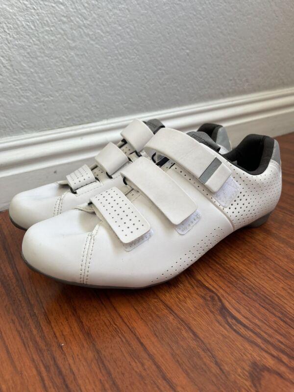 Shimano Womens 7.5 39 Road Bike Cycling Shoes Cleats White