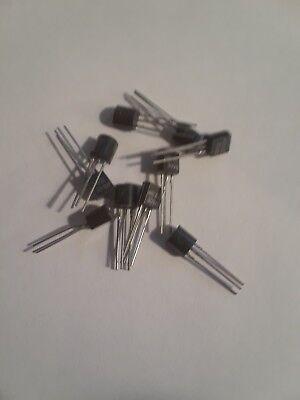 10 Pcs 2n4061 Transistor Pnp To-92b Gp 30 V .36 W .1 A Hfe 90
