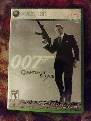007 QUANTUM OF SOLACE MICROSOFT XBOX 360 COMPLETE VIDEO GAME JAMES BOND VGC
