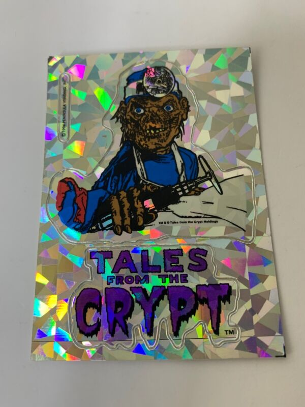 Tales From the Crypt 90s Decal Sticker Crypt Keeper Prism Sticker Bone Saw