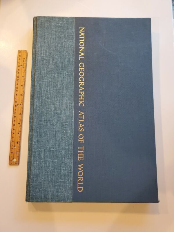 1975 NATIONAL GEOGRAPHIC atlas of the world hardcover