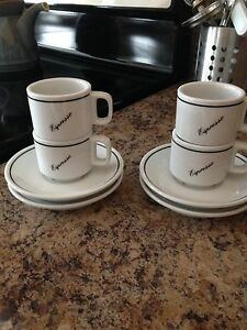 Brand New Expresso Cups & Saucers